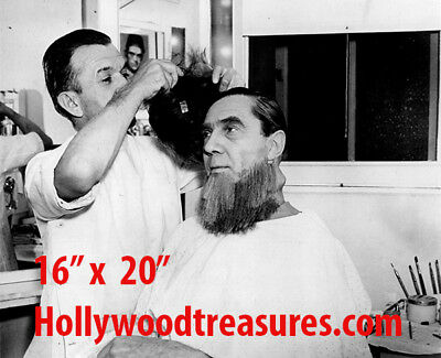 "Wolfman~Photo~Jack Pierce~Haircut~Photo~Barber~Personality Poster~ 16/"" x  20/"""