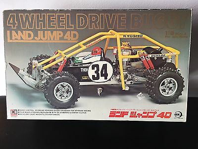 NIB: Vintage Kyosho Land Jump 4WD (1st generaton) RC CAR (Landjump 1980)