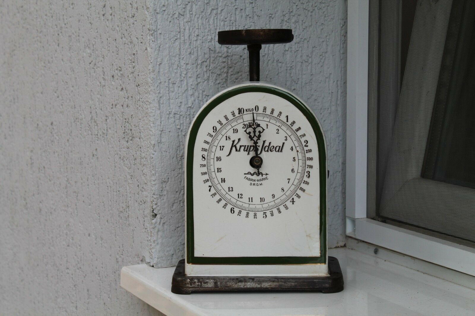 Vintage Old German Tape Weight Scale Krups Ideal Porcelain   up to 65% off