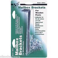 6 Pk Steel 1 & 1 1/2 & 2 Rural Mailbox Bracket Holder For Wood Post Mb10