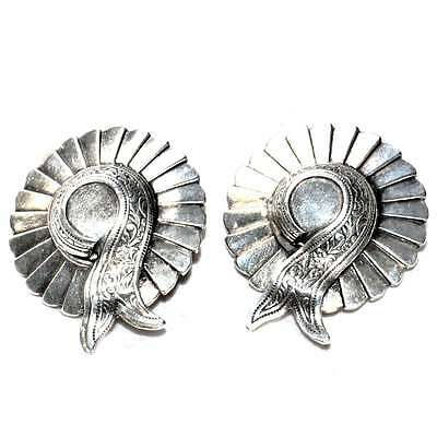 Boucles D'oreilles Vintages Ou Anciennes Plaqué Argent Originale Bijou Earring Adottare La Tecnologia Avanzata