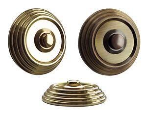Messing-Türklingel-Klingel-6 Größe-Klingelplatte-Klingel-Schild-2-Draht-Anschluß