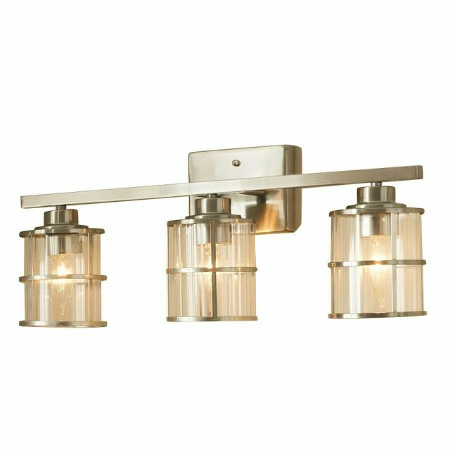 2 Bulb Brushed Nickel Vanity Light