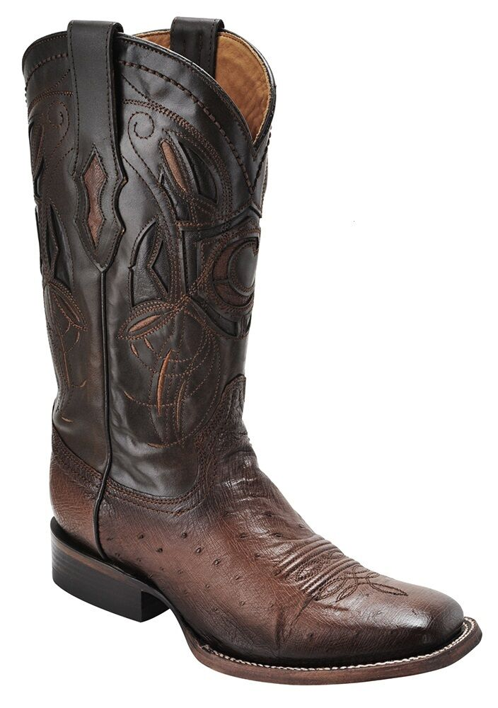 Lisse autruche Rodeo Western bottes Made by Cuadra Bottes