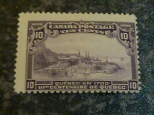 CANADA-POSTAGE-STAMP-SG193-10C-VIOLET-OFF-CENTRE-MOUNTED-MINT