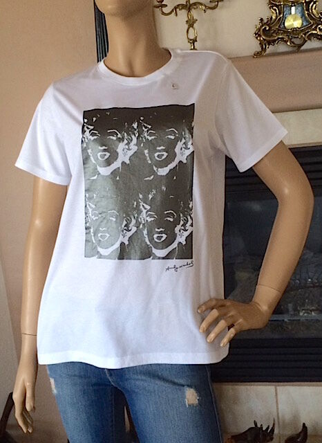 f49567ea9ee0e Uniqlo SPRZ NY Andy Warhol Women Graphic White Short Sleeve T-shirt Size S  for sale online