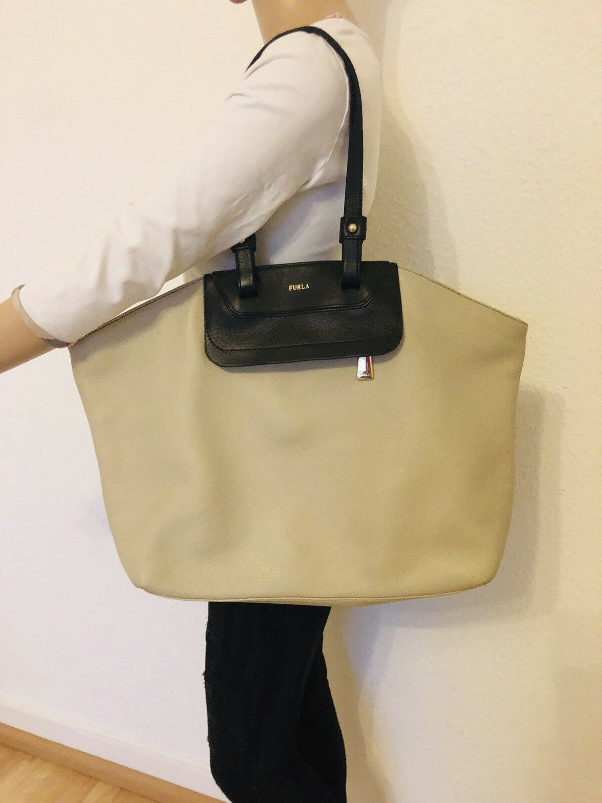 769e50e98ea52 Furla Damen Tasche Bag Purse Shopper Beige Braun Braun Braun Leder Leather  Kalbsleder f05574