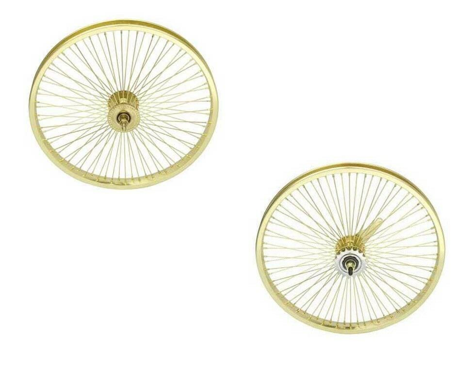 NEW  20  LOWRIDER gold WHEELSET  72 SPOKES COASTER BRAKE BIKES CYCLING   fast shipping and best service