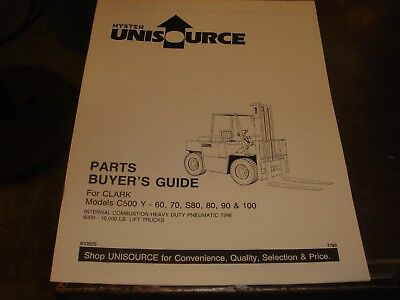 Hyster C500 Y 60 70 80 S80  90 S100 Forklift  Parts Guide Manual Book Catalog