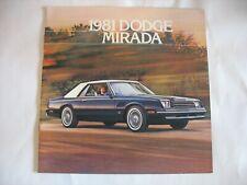Classic Vintage Advertisement Ad H99 1981 Dodge Mirada CMX 2-sided