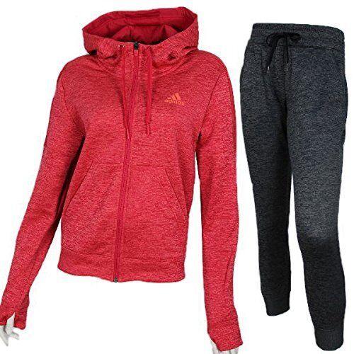 cf63cfe67de4  80 NEW adidas Womens Team Issue CLIMAWARM FULL ZIP Fleece Hoodie Pink Small