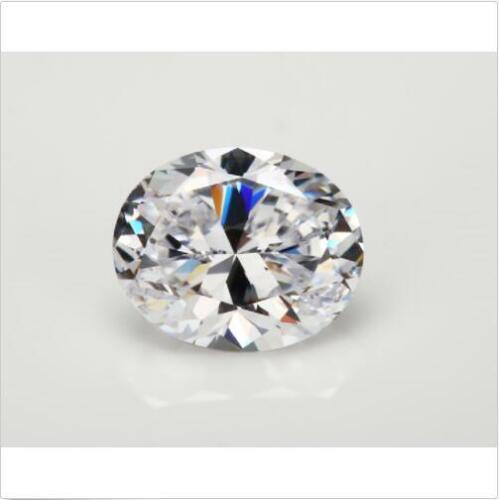 White Sapphire 9x11MM 5.92Ct Oval Cut AAAAA VVS Loose Gemstone