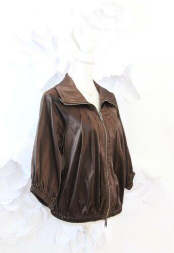 Blazer Dknyc Metallic Dame lynlommer Jacket Luksus M Bomber Brown Fuld XrgAgxqE