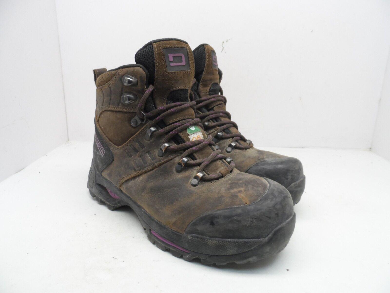 DAKOTA Women's HD3 Steel Toe Composite Plate WP Hiking Work Boot Brown 8.5M