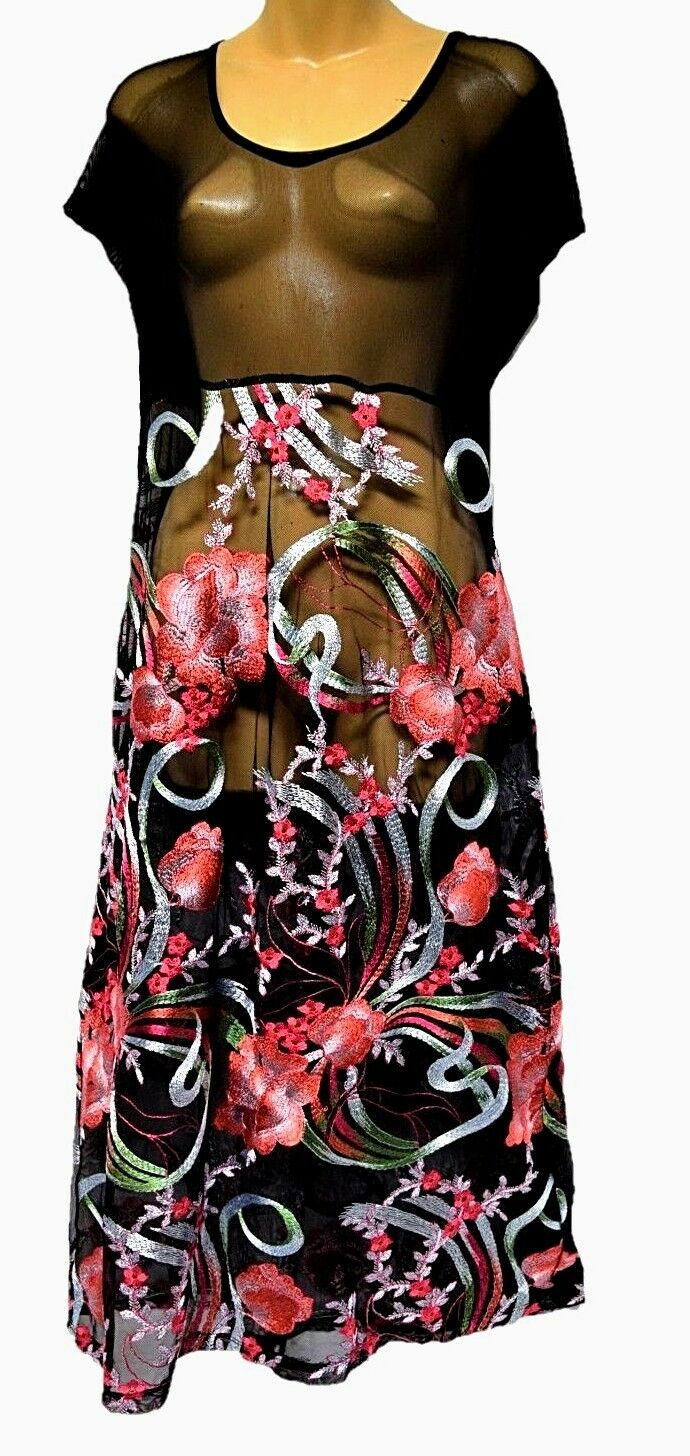 TS dress TAKING SHAPE plus sz XS   14 Nights In Bloom Overlay Dress sheer NWT