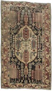 Distressed-S-Antique-Hamedan-Tribal-Rug-5X8-Wool-Oriental-Home-Decor-Carpet