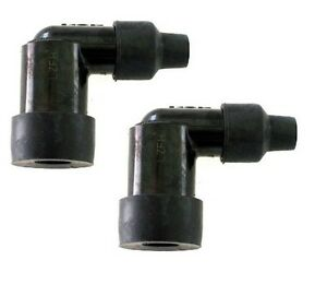 LZFH-NGK-2-Quanity-Spark-Plug-Caps-Elbow-No-Resistor-10-12-14-mm-plug-7mm-Wire