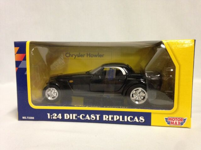 "8.5/"" Diecast 1:24 Scale Replicas By MotorMax Toys Chrysler Howler Color Black"