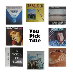 Christian Gospel Vinyl Records Albums LP 33 rpm Vtg 70's 80's YOU PICK TITLE
