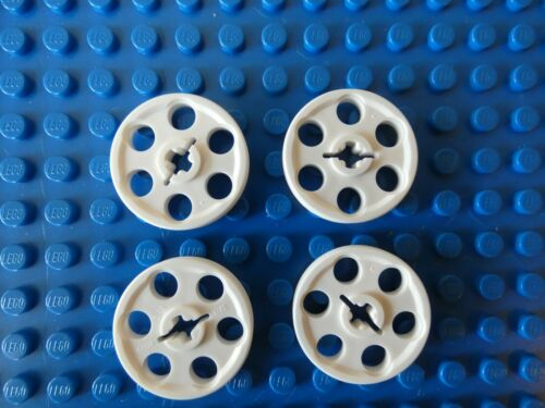 Lego White Pulley Wedge Belt Wheel 4185 **NEW** x 4