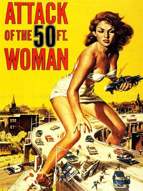 ART PRINT POSTER MOVIE FILM ATTACK FIFTY FOOT WOMAN SCI FI GIANTESS USA NOFL0717