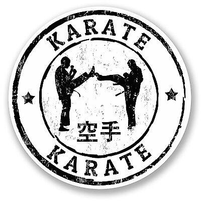 2 x Karate Vinyl Sticker Decal iPad Laptop Car Gift Belt Martial Arts Fun #5520
