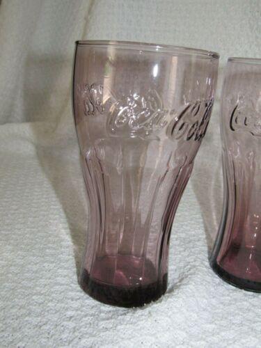4 McDonald/'s Coca Cola Coke Raspberry Contour 16 oz Drinking Glasses