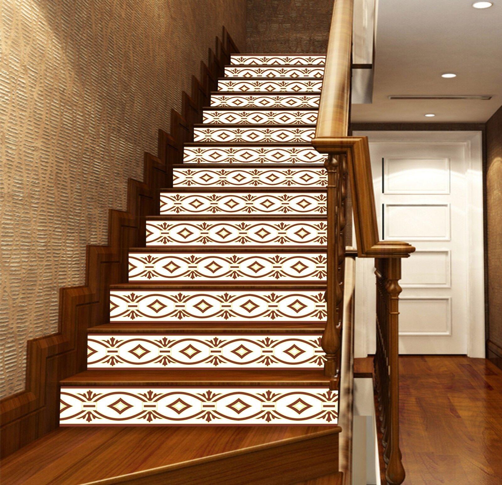 3D Loop Totem6 Stair Riser Decoration Photo Mural Vinyl Decal Wallpaper UK Lemon