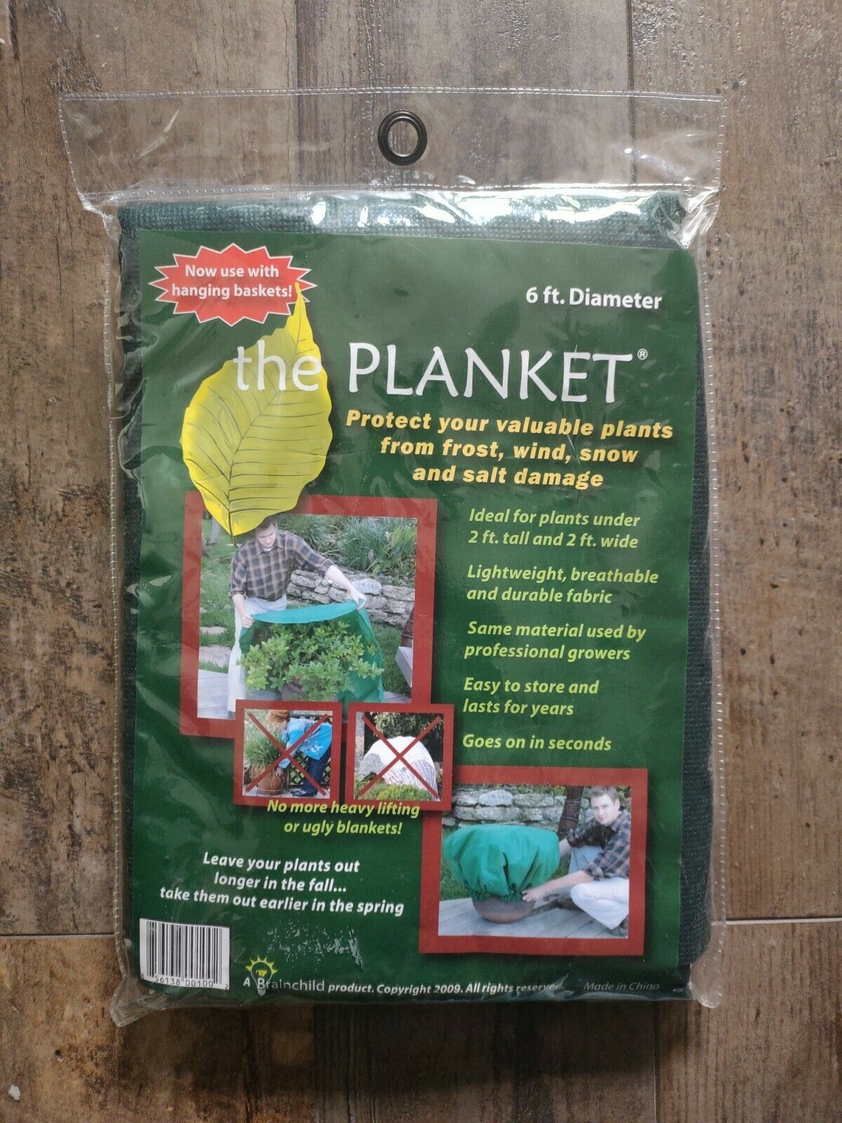 The Planket Frost Protection Plant Cover 6 ft Round New in Bag Potted Hanging