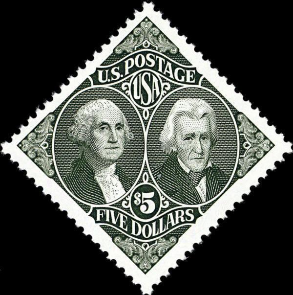 1994 $5 Presidents George Washington & Andrew Jackson S