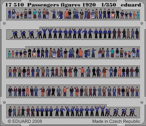 Eduard 1//350 Pre-painted PE passagers figures 1920 S pour Titanic Lusitania etc