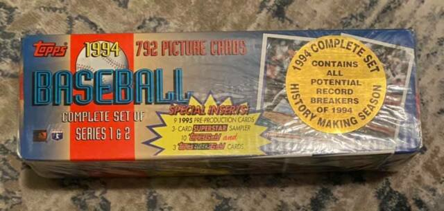 Topps 1994 Baseball Complete Set Series 1 & 2 New Factory Sealed RARE VINTAGE