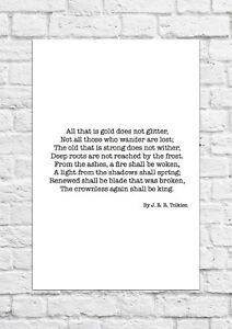 lord of the rings poem all that is gold