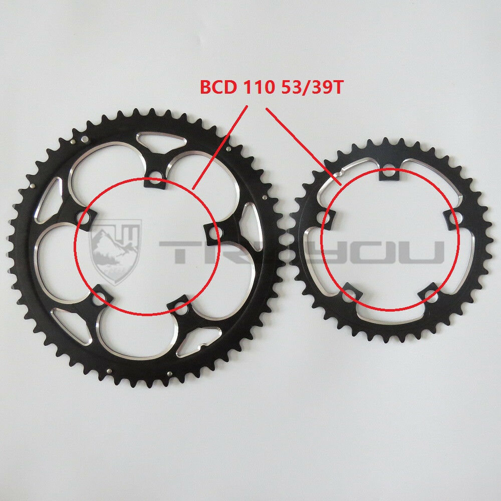 BCD110 53T 39T Dual Disc Double  Chainring Chainwheel Road Folding Bike  creative products