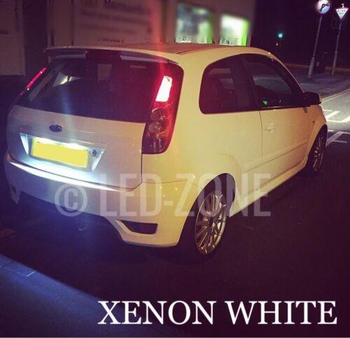 Ford fiesta Mk6 LED Xenon Blanco Número De Matrícula Bombillas Libre de error de actualización St