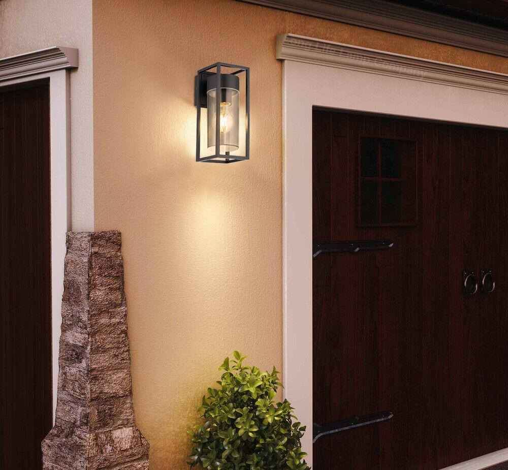 DEL rectangulaire Outdoor Wall Light Clair Métal Lanterne de jardin murale lampe ZLC079