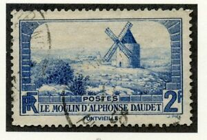 Ensoleillé Stamp / Timbre De France Oblitere N° 311 Le Moulin De Alphonse Daudet