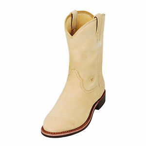 ARIAT - Men's Dura - Roper Boots - Natural Roughout ...