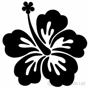 36 Black Hibiscus Flowers Stickers Decals For Car Wall Home Ebay