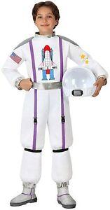 Deguisement-Garcon-Fille-Astronaute-Blanc-10-11-12-Ans-Enfant-Cosmonaute-NEUF