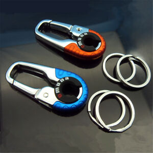 Stainless Steel Climbing Carabiner Key Chain Clip Hook Buckle Keychain Outdoo 9H