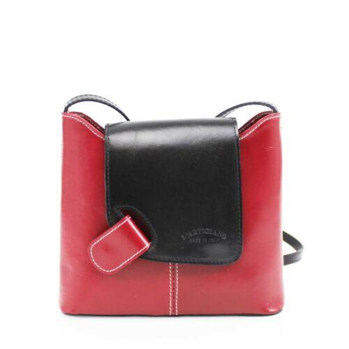 Ladies VERA PELLE Real Italian Leather Crossbody Women Messenger Shoulder Bag