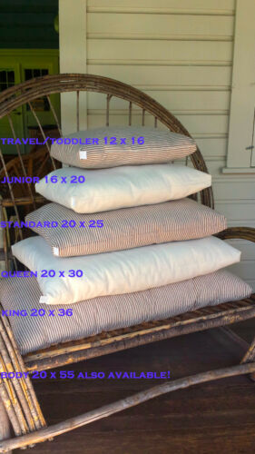Eco Wool Filled Hemp Bed Pillow Chemical Free USA New Natural Organic sleep firm
