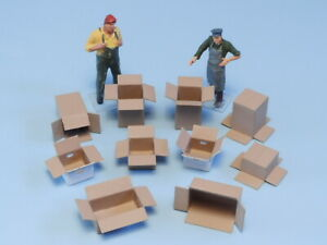 1/87 Scale Cardboard Box Kits For Model Train Layout Workshop Building Diorama