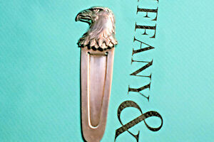 Tiffany-amp-Co-Rare-Vintage-Eagle-Bookmark-Sterling-Silver-w-Pouch
