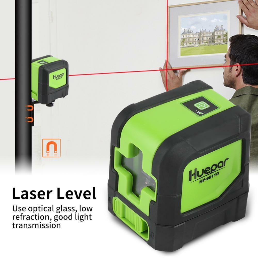 Red Green 2 Lines Cross Level Laser Measuring Tools Waterproof IP54 Precision AP