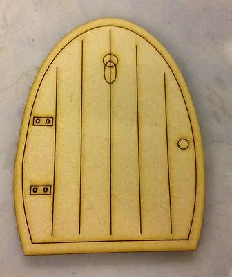 fairy elf door  X 10 Wooden etched Craft Shape 125mm high x 3mm Mdf wood