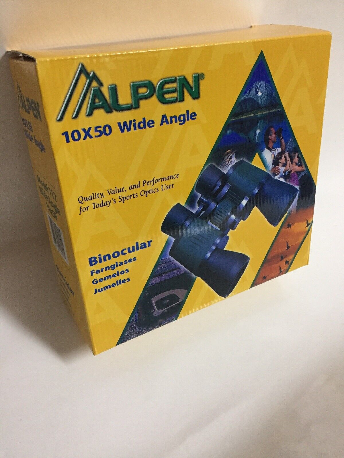 Brand New  Alpen Binoculars 10x50 Wide Angle Model 112 In Retail Packaging