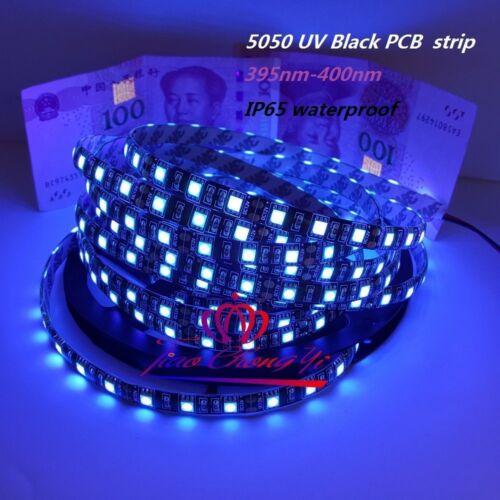 12V 5M 5050 60LED//m 300LED Strip Light car DRL DIY tape lamp Black Waterproof