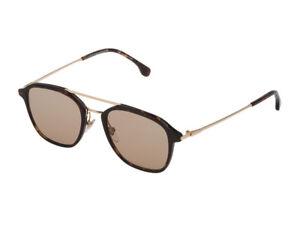 Occhiali-da-Sole-LOZZA-SL4182M-havana-marrone-doppio-ponte-oro-sunglasses-0786